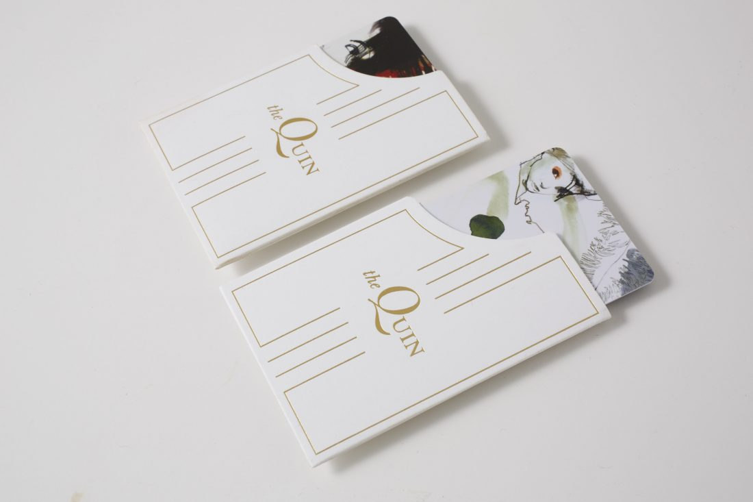 sophisticated key card and sleeve packet design by full service creative branding agency Stellabean in NYC
