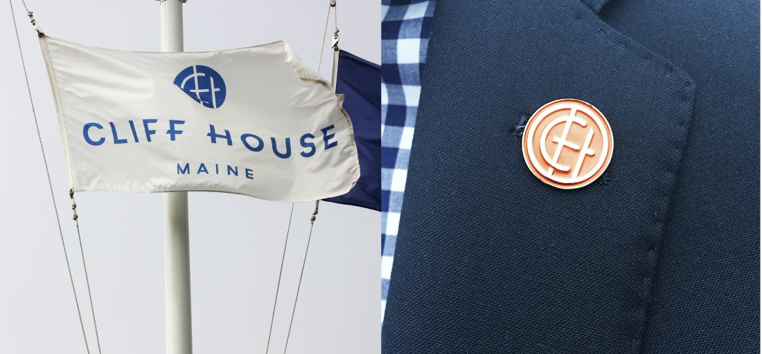 nautical sailboat flag design, luxury resort guest experience, employee navy uniform design with custom pin