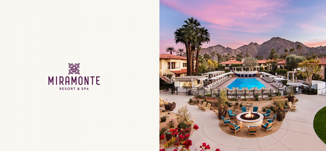 brand logo for Miramonte Resort & Spa in Palm Springs, Indian Wells, California, CA, guest experience