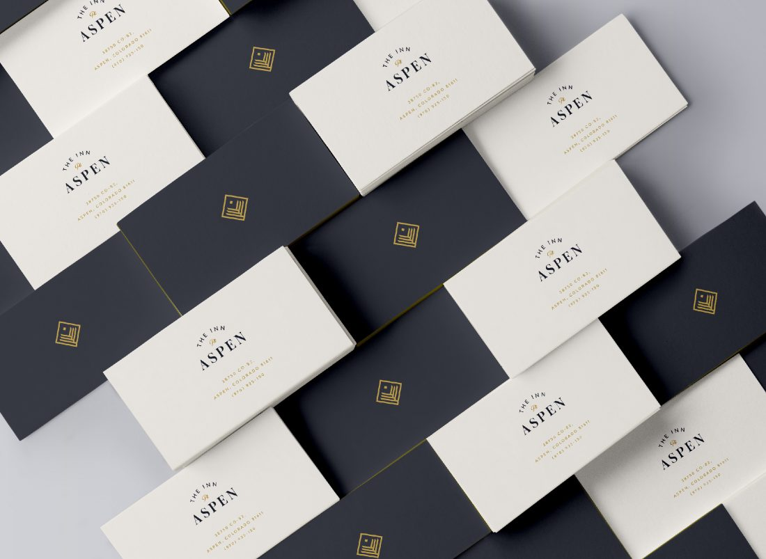 contemporary, modern business card design by full service creative marketing and branding agency in NYC